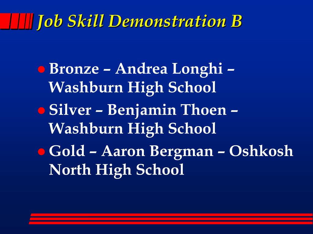 Job Skill Demonstration B