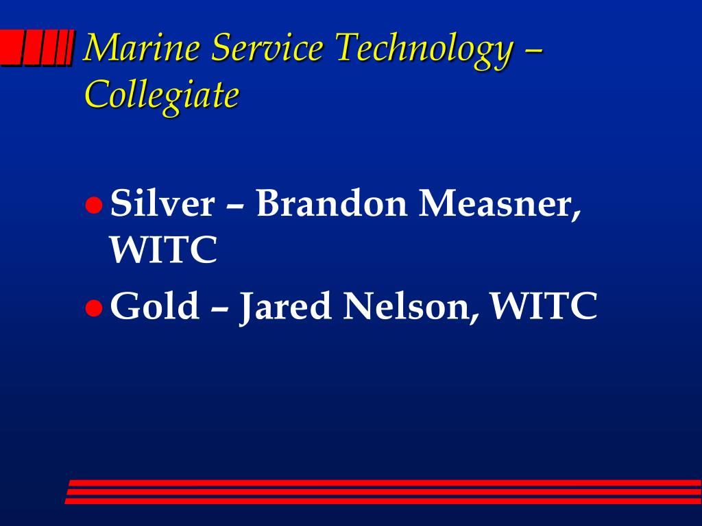 Marine Service Technology – Collegiate