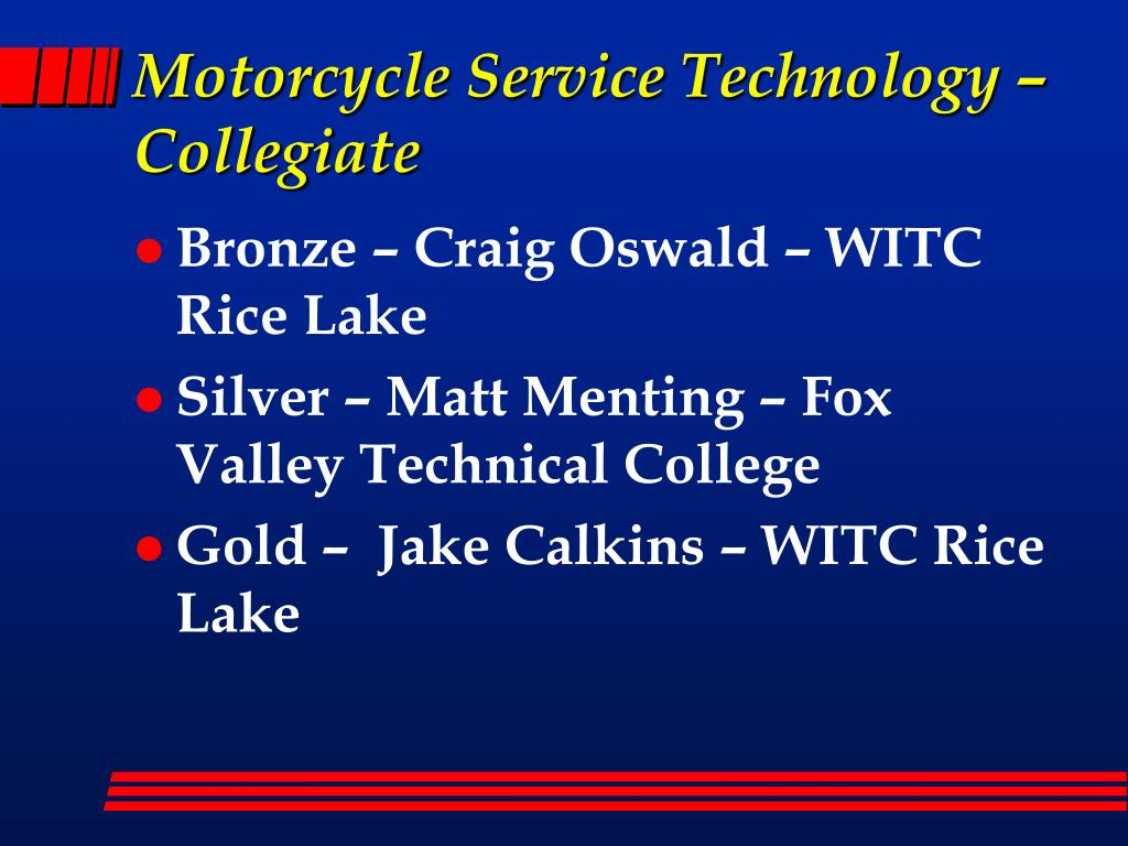 Motorcycle Service Technology – Collegiate