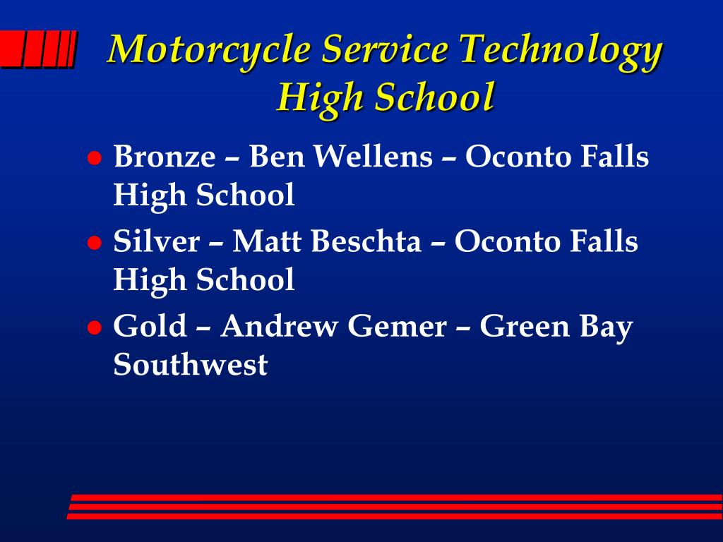 Motorcycle Service Technology High School