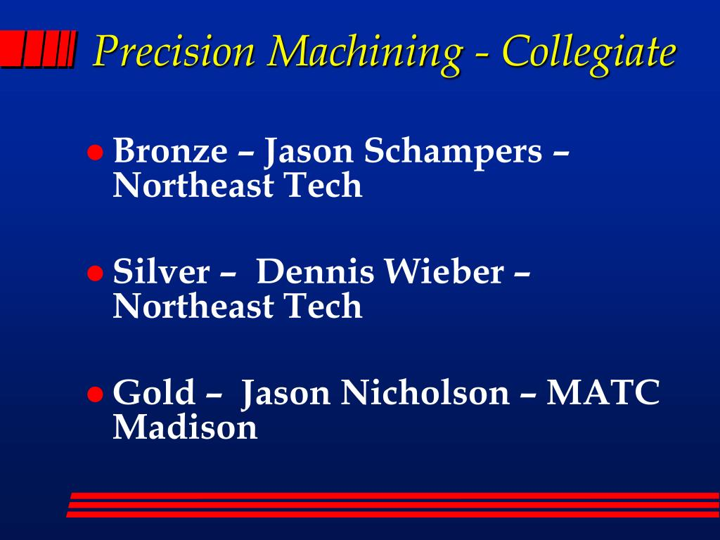 Precision Machining - Collegiate