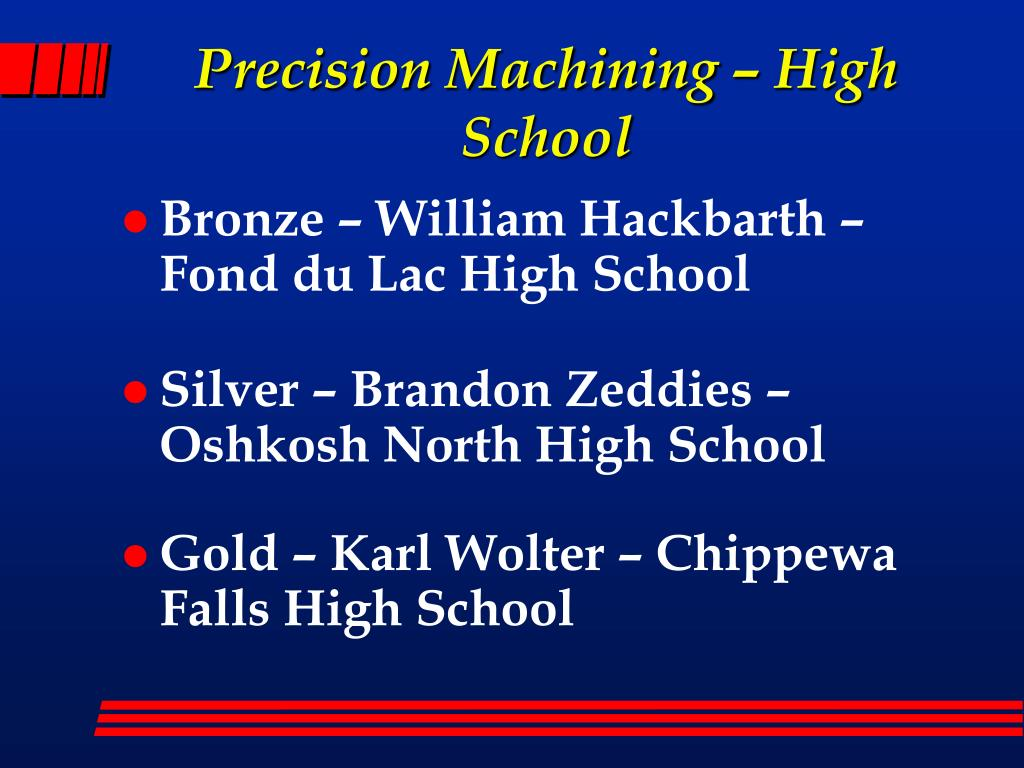 Precision Machining – High School