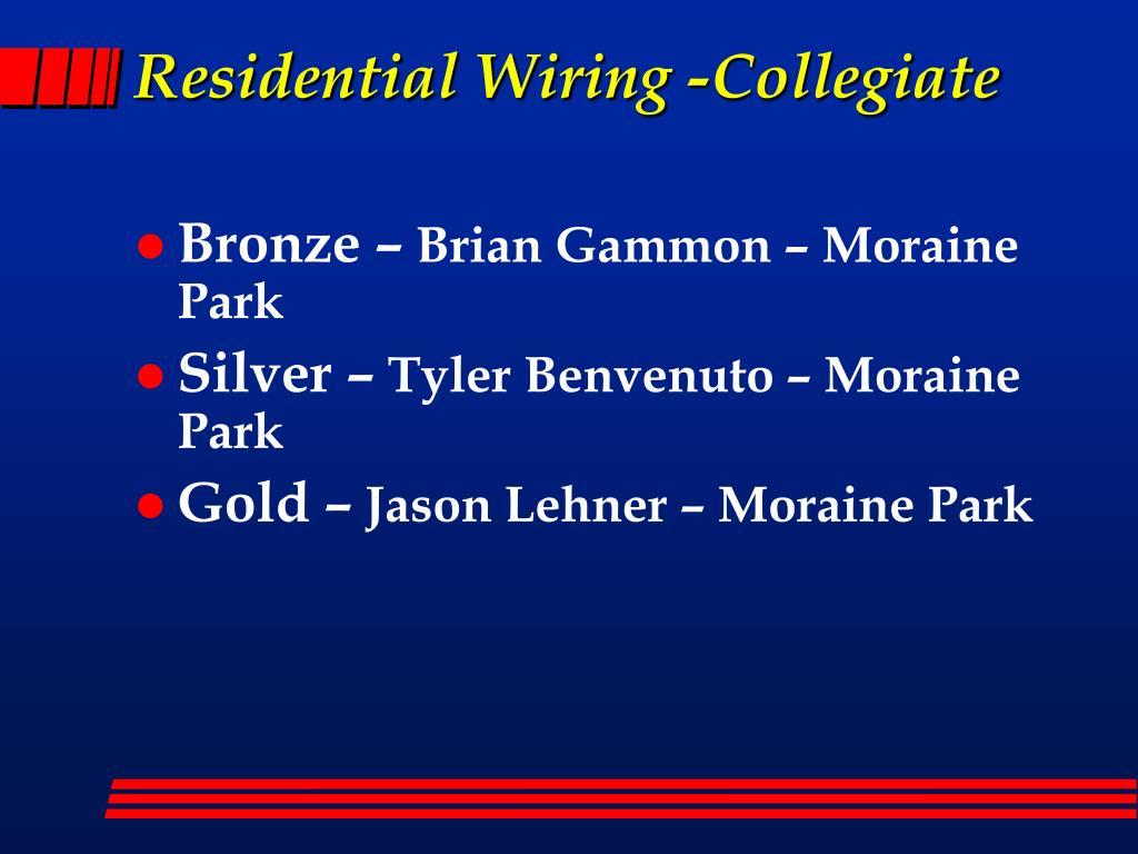 Residential Wiring -Collegiate