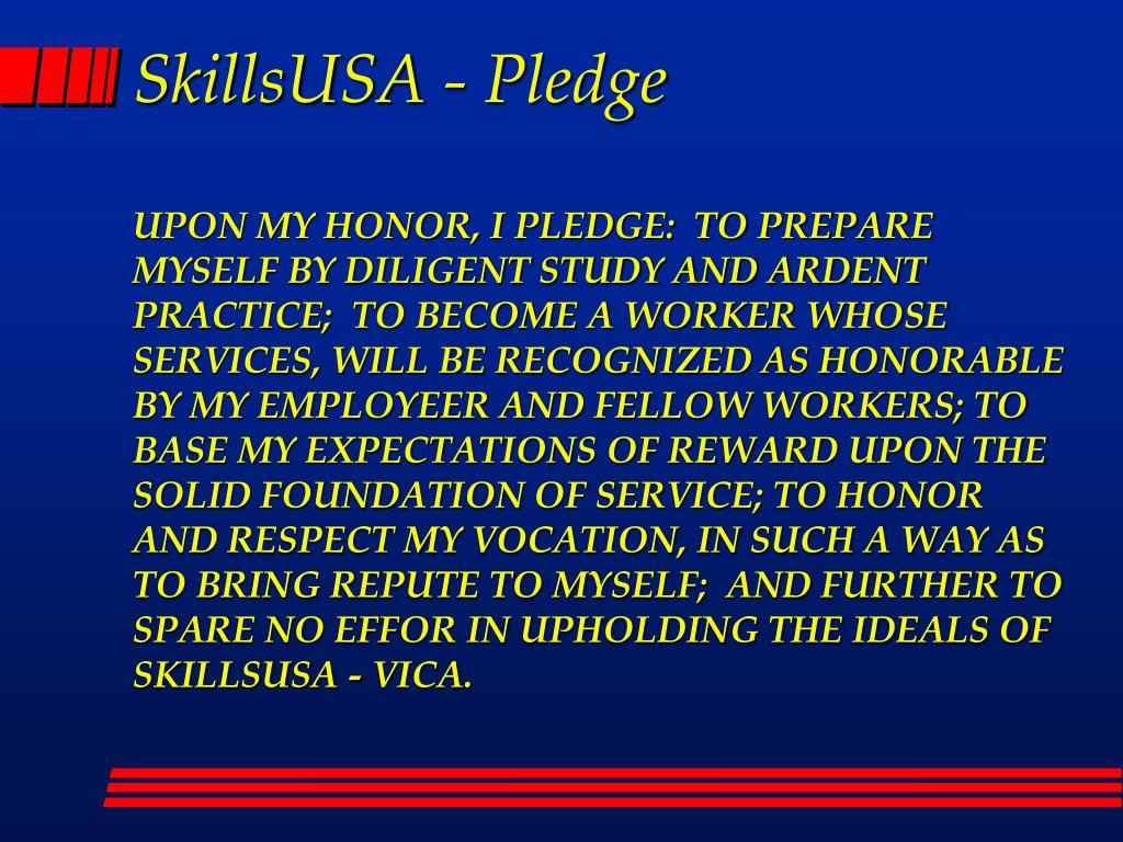 SkillsUSA - Pledge
