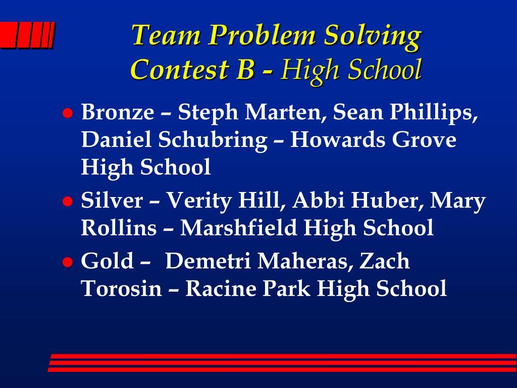 Team Problem Solving