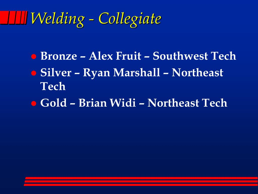 Welding - Collegiate