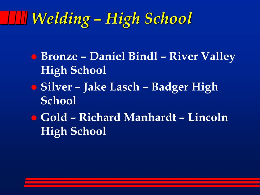 Welding – High School