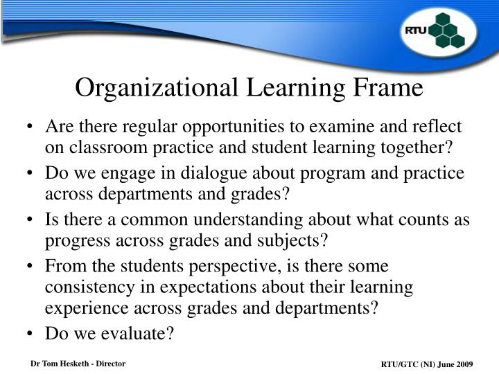 Organizational Learning Frame
