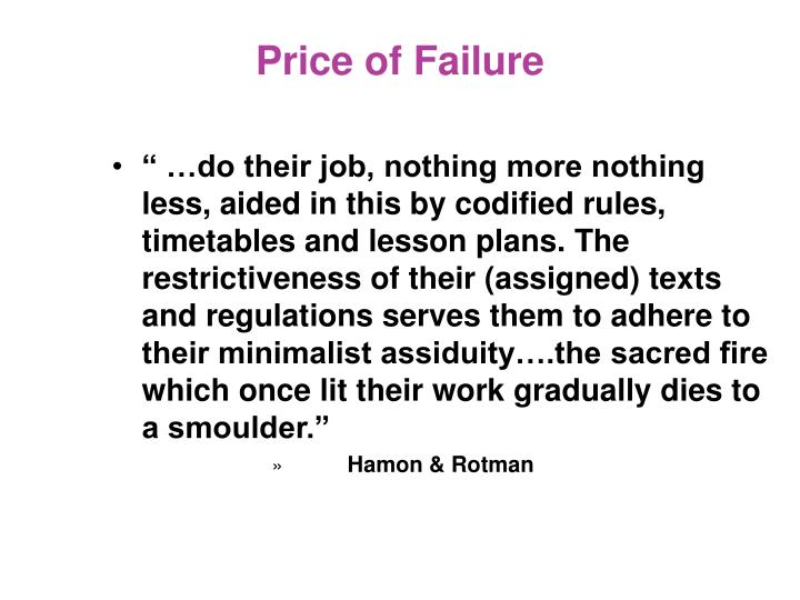 Price of Failure