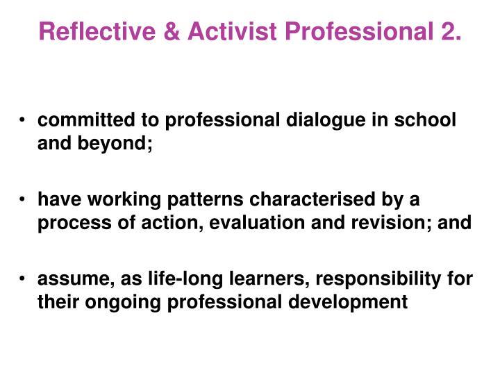 Reflective & Activist Professional 2.