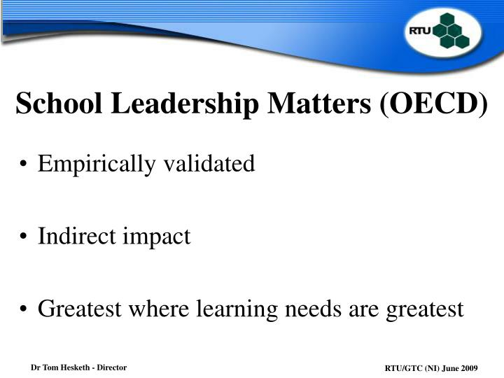 School Leadership Matters (OECD)