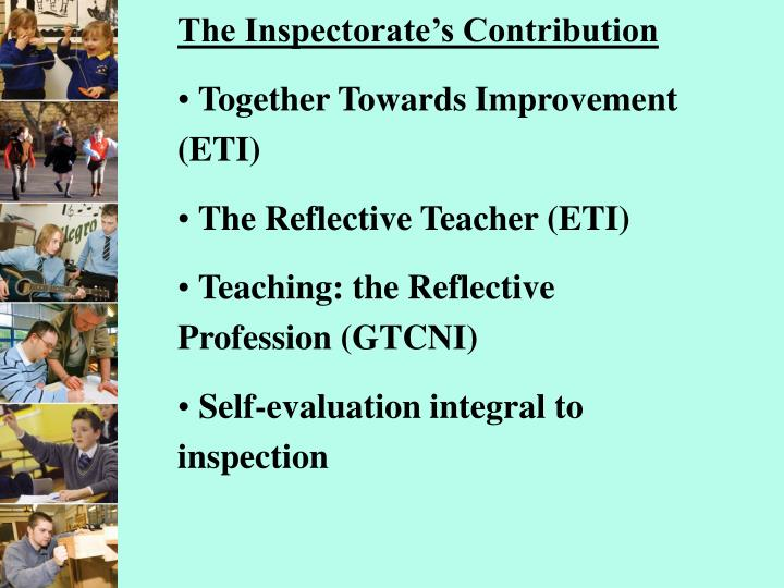 The Inspectorate's Contribution