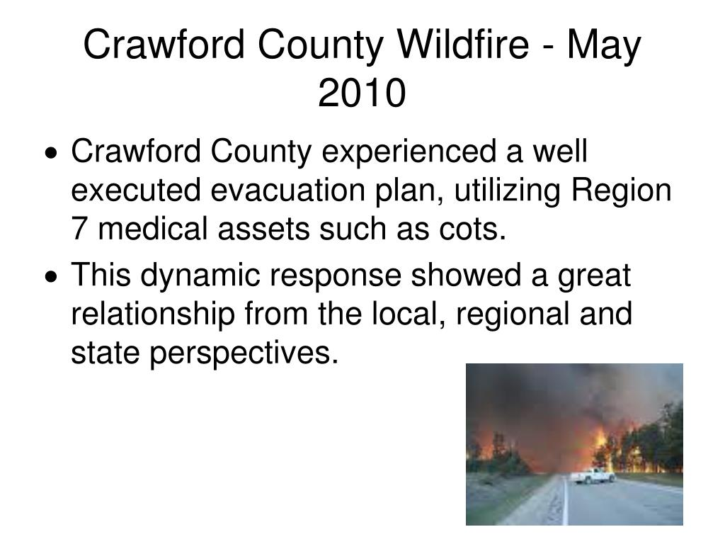 Crawford County Wildfire - May 2010
