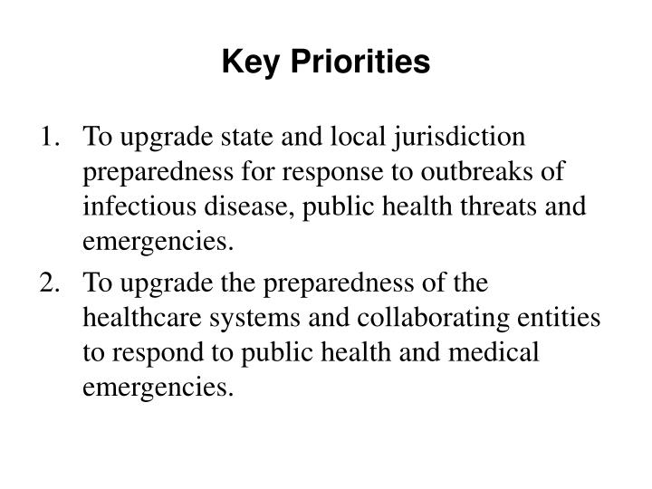 Key priorities l.jpg
