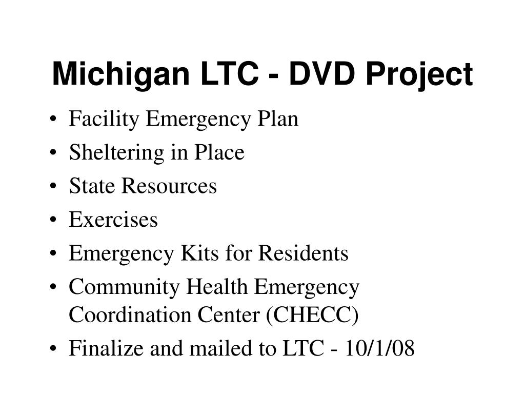 Michigan LTC - DVD Project