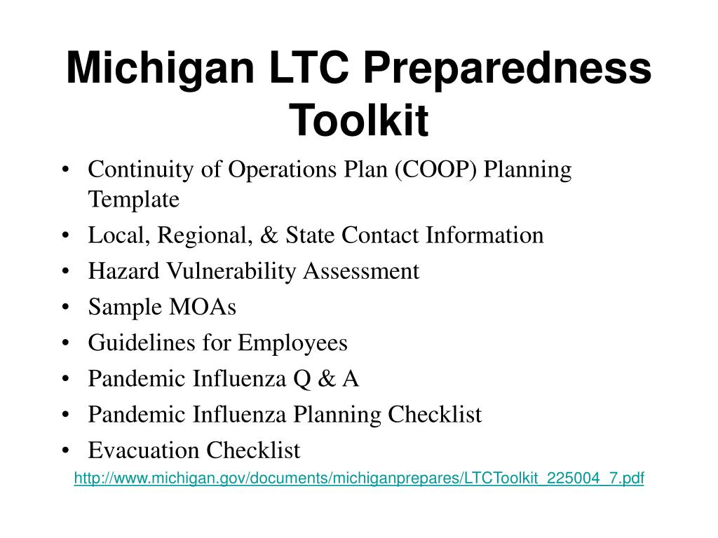 Michigan LTC Preparedness