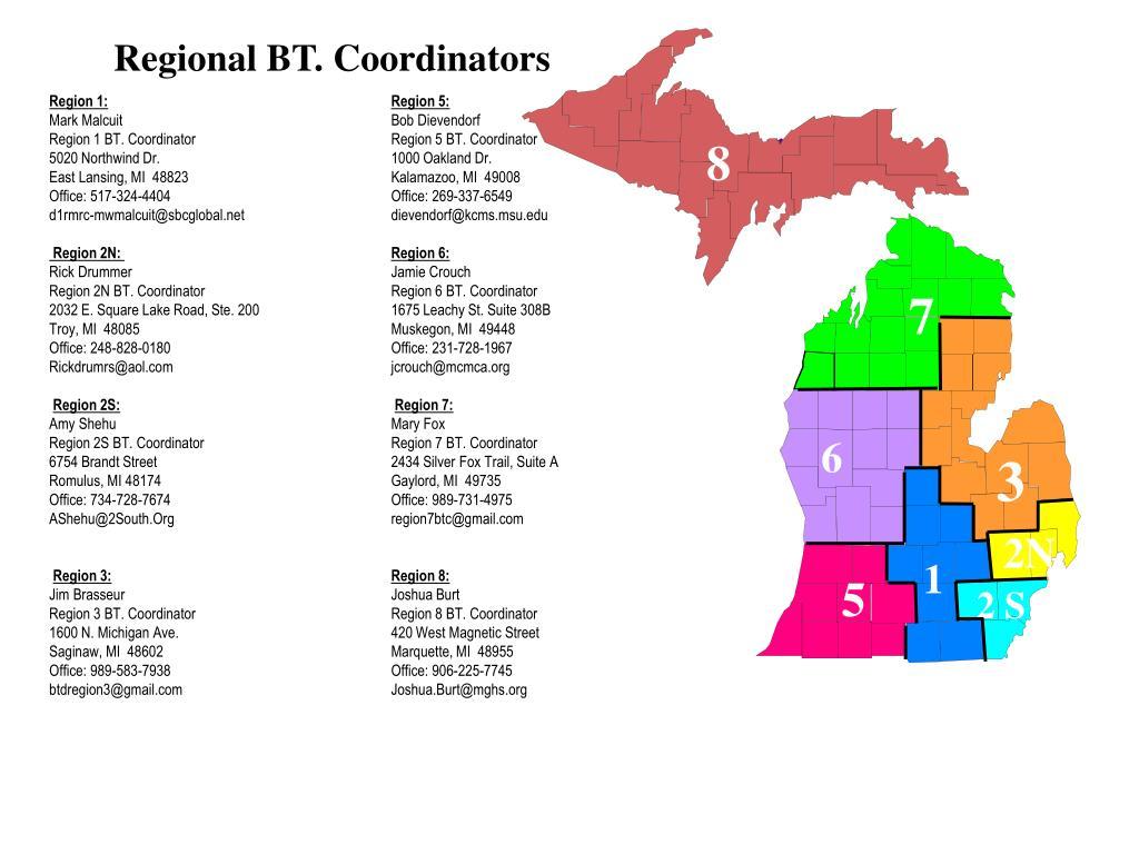 Regional BT. Coordinators