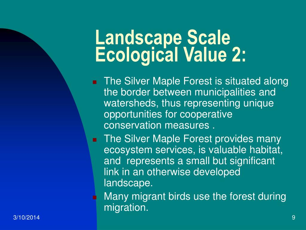 Landscape Scale Ecological Value 2: