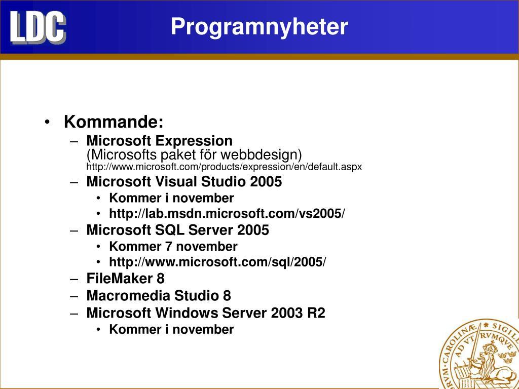 Programnyheter