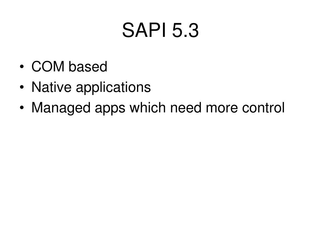 SAPI 5.3