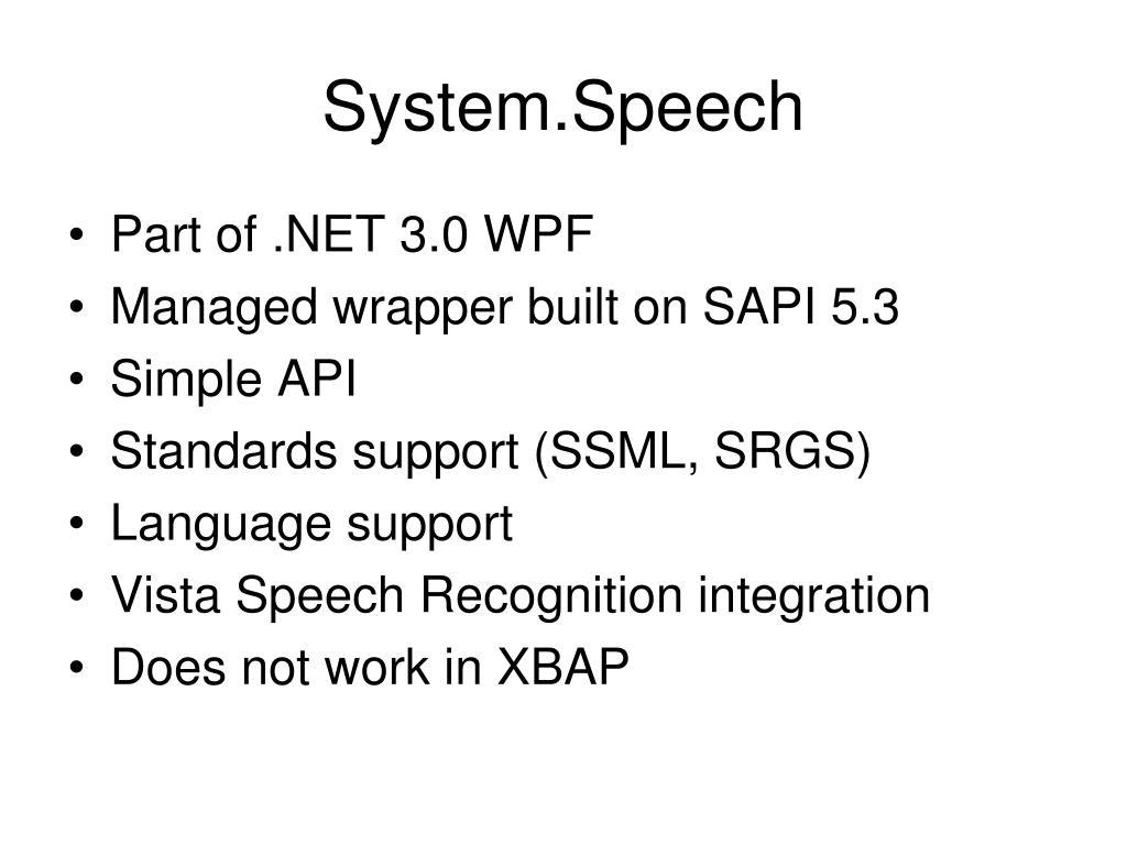 System.Speech