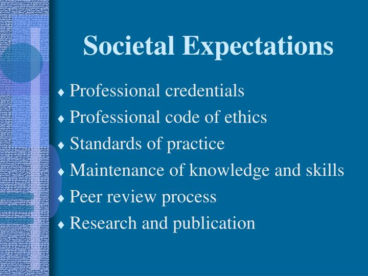 Societal Expectations