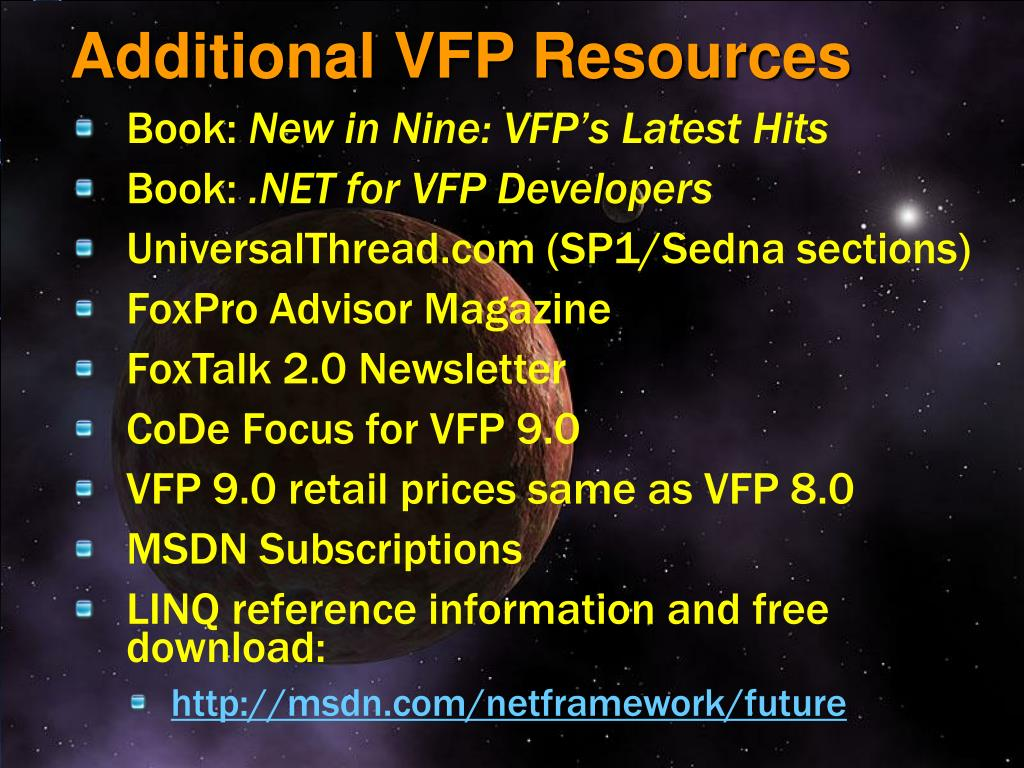 Additional VFP Resources