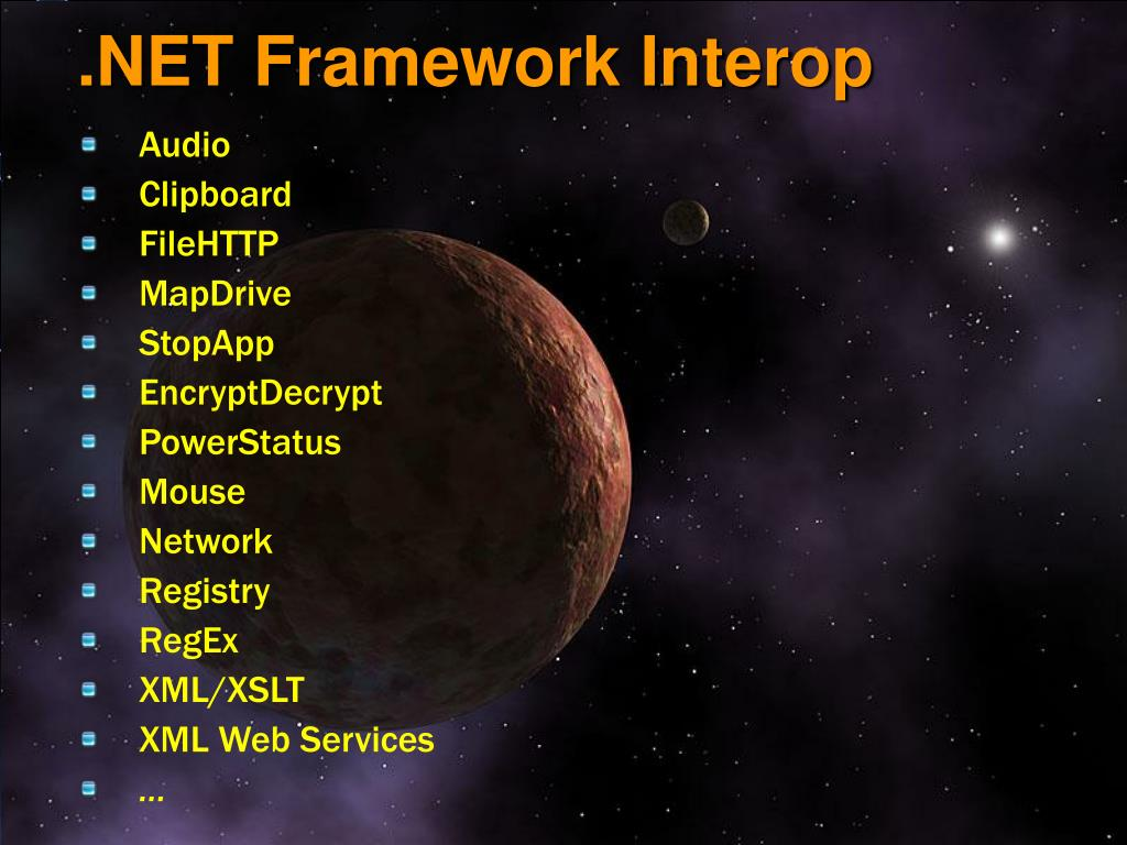 .NET Framework Interop