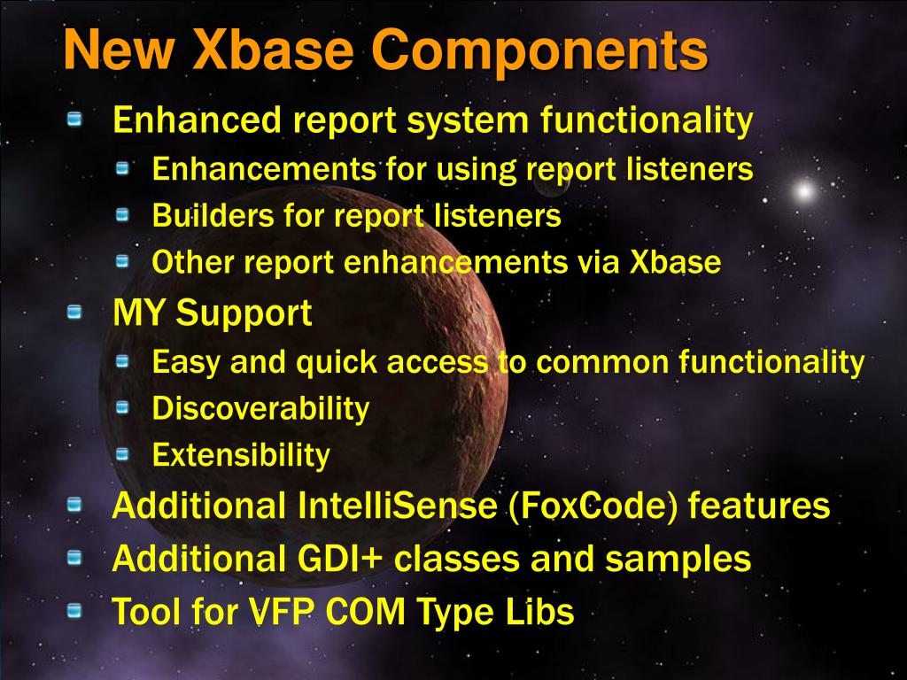 New Xbase Components