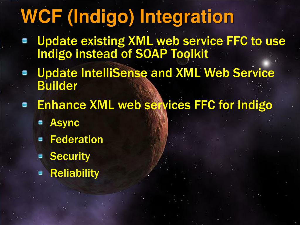 WCF (Indigo) Integration
