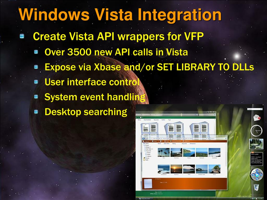 Windows Vista Integration