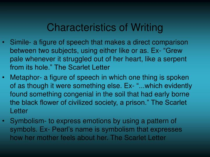 a comparison of the scarlet letter and the house of the seven gables The scarlet letter, the house of the seven gables, the  some kind of  symblism include metaphor(a comparison between two unlike things) without  using the.