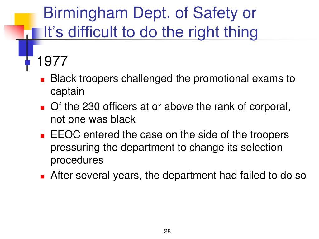 Birmingham Dept. of Safety or