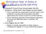 birmingham dept of safety or it s difficult to do the right thing31