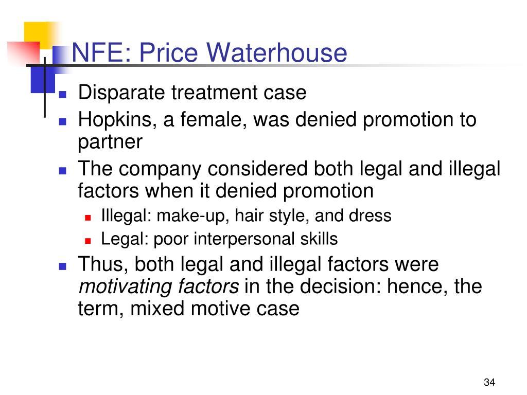 NFE: Price Waterhouse