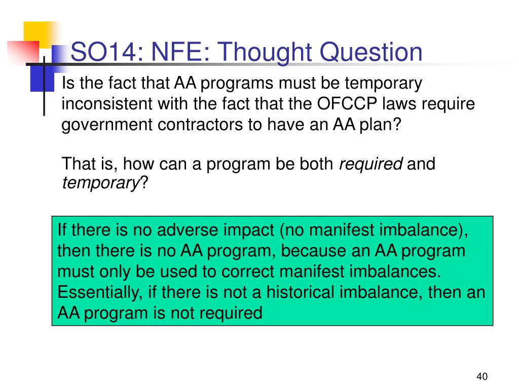 SO14: NFE: Thought Question