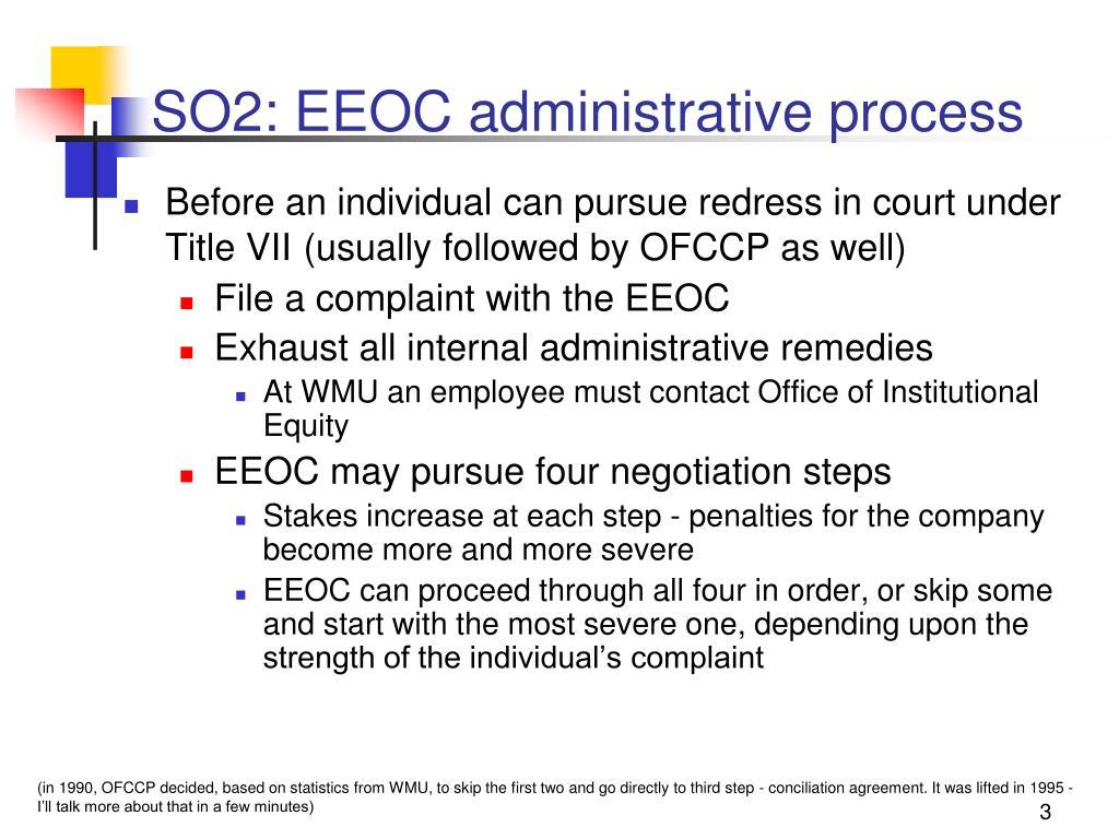 SO2: EEOC administrative process