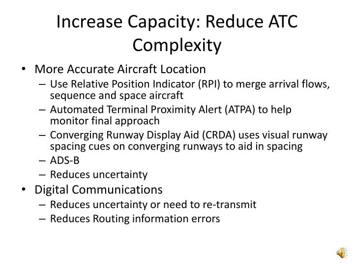 Increase Capacity: Reduce ATC Complexity