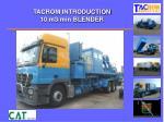 tacrom introduction 10 m3 min blender