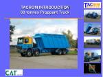 tacrom introduction 60 tonnes proppant truck