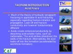 tacrom introduction acid fracs