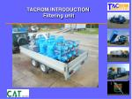 tacrom introduction filtering unit