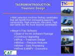 tacrom introduction treatment design