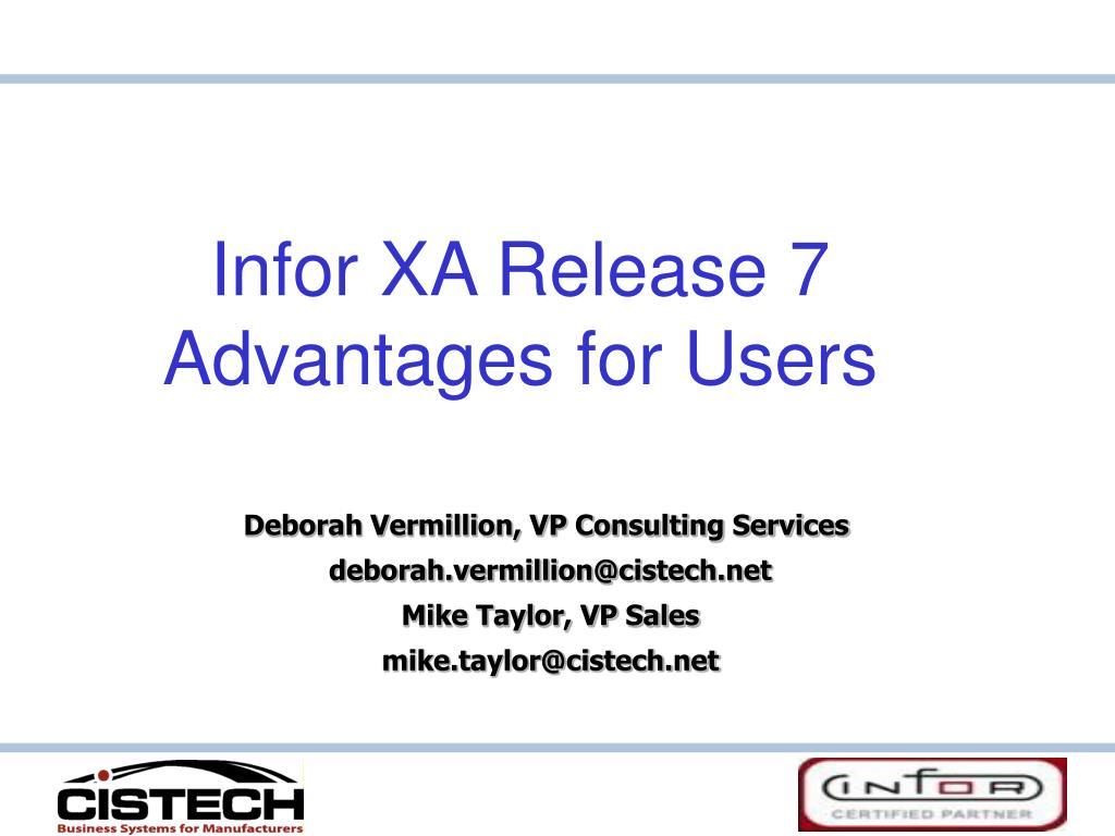 Infor XA Release 7