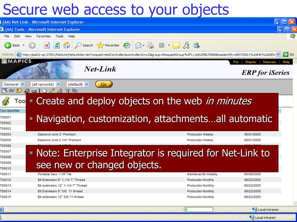 Secure web access to your objects