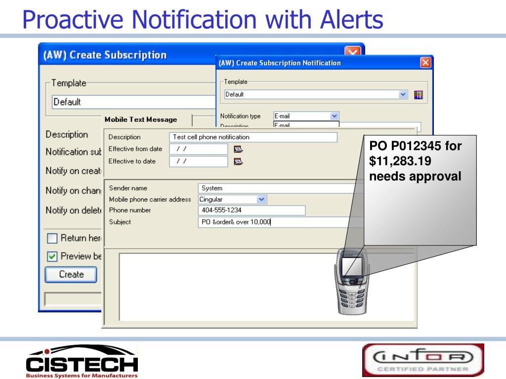 Proactive Notification with Alerts