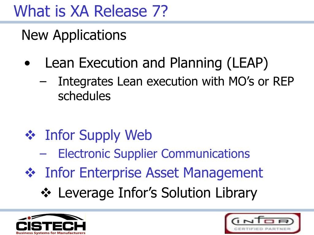 What is XA Release 7?
