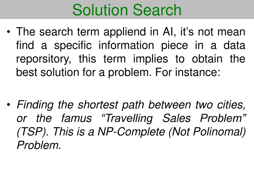 Solution Search