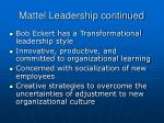 mattel leadership continued