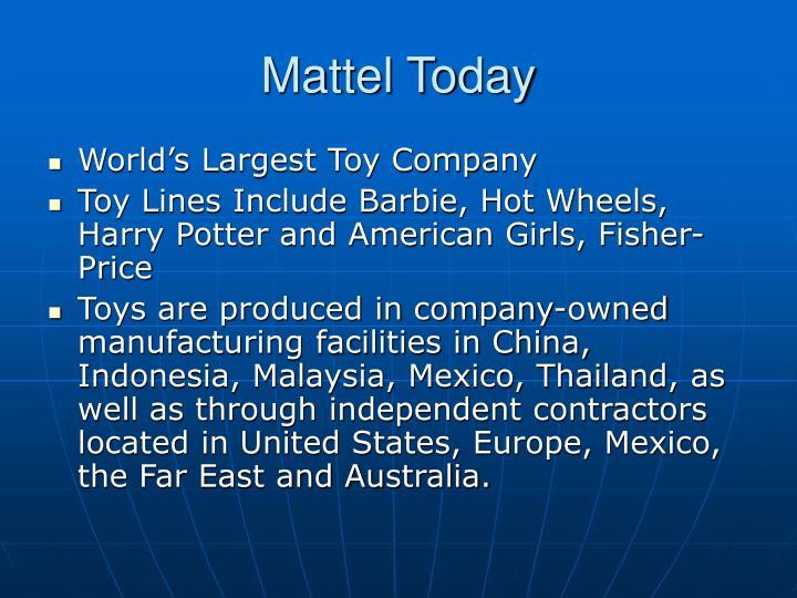 Mattel Today